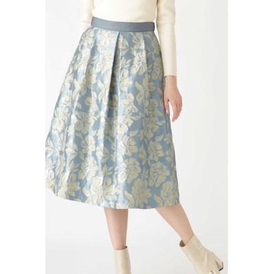 JILLSTUART ◆アマレットフラワースカート ブルー 2