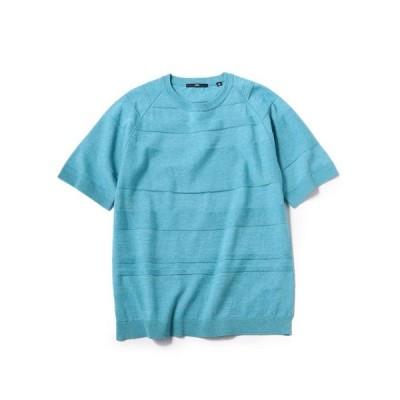 tシャツ Tシャツ SC: ランダム ボーダー ニット Tシャツ