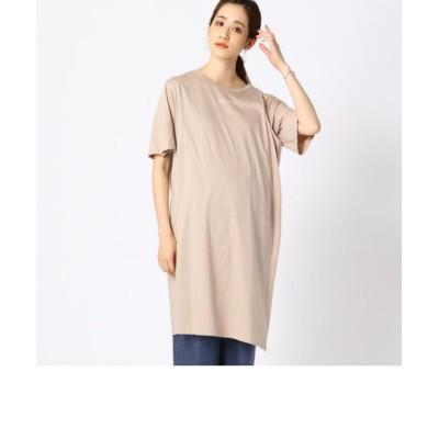 〔マタニティ〕スポーティー Tシャツドレス