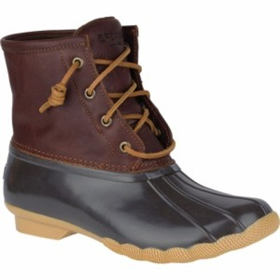 スペリートップサイダー Sperry Top-Sider レディース ブーツ シューズ・靴 Saltwater Duck Boot Tan/Dark Brown