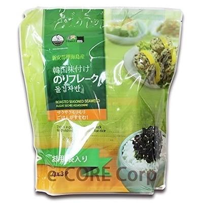 イェマッ食品 韓国味付けのりフレーク 80g3袋入り