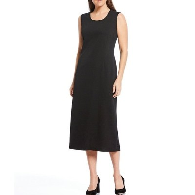 ミンウォン レディース ワンピース トップス Basic Sleeveless Scoop Neck Tank Dress Black