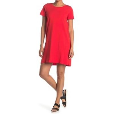 ボベー レディース ワンピース トップス Cotton T-Shirt Dress RED