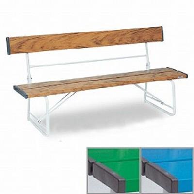 【法人限定】 ベンチ 樹脂製 背付き 折りたたみ式 150cm 2~3人用 ( 送料無料 長椅子 プラスチック 屋外 )
