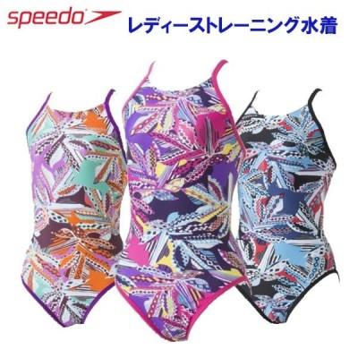 スピード レディース トレーニング水着 ボタニカルミックスターンズスーツ
