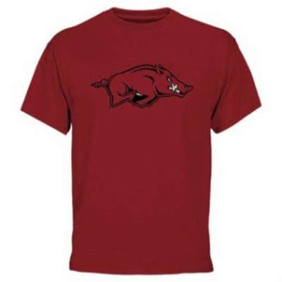 Fanatics Branded ファナティクス ブランド スポーツ用品  Arkansas Razorbacks Cardinal Core Logo T-Shirt