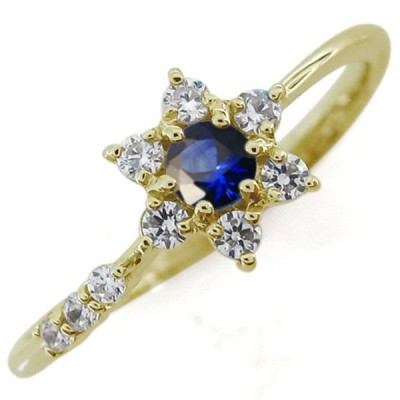 誕生石 結婚10周年 指輪 ブライダルリング 流れ星リング