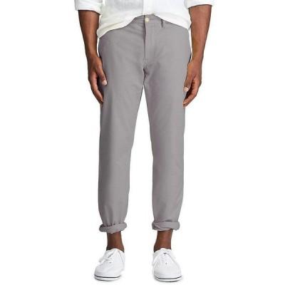 ラルフローレン メンズ カジュアルパンツ ボトムス Straight-Fit Flat-Front Stretch Twill Chino Pants Perfect Grey
