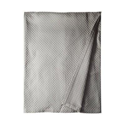 Natural Comfort Matelasse Blanket Coverlet, Retro Polka Dot Pattern, Light Grey, King by Natural Comfort [並行輸入品]