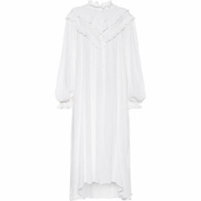 イザベル マラン Isabel Marant. Etoile レディース ワンピース ミドル丈 ワンピース・ドレス Ibenia Cotton-Blend Midi Dress White