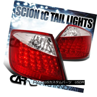 テールライト Scion 2004-2010 tC LEDテールライトブレーキストップリア・ランプレッド/クリア Scion 2004-2010 tC
