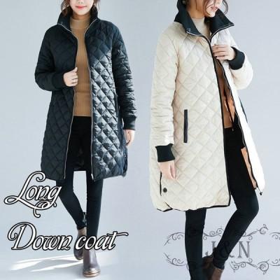 ダウンコート レディース フードなし ロング おしゃれ 人気 高級 き 40代 50代 30代 セール おすすめ 暖かい 安い 韓国 きれいめ 暖かさ 冬