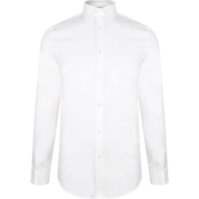 ヒューゴ ボス BOSS メンズ シャツ トップス Slim Fit Cotton Shirt White