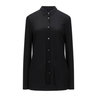 ウールリッチ WOOLRICH シャツ ブラック M レーヨン 95% / ポリウレタン 5% / シルク シャツ
