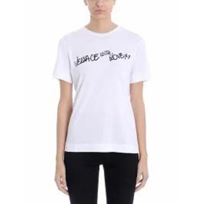 Versace レディースその他 Versace With Love White Cotton T-shirt white