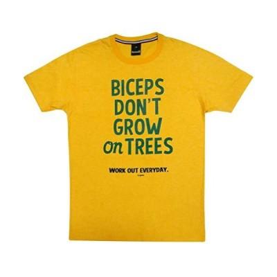 筋トレしよう BICEPS DON'T GROW ON TREES おもしろ ジョーク Tシャツ メンズ レディース (Lサイズ)