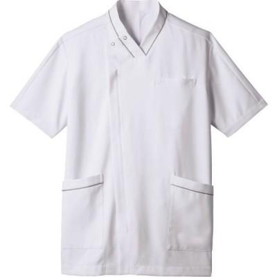 住商モンブラン住商モンブラン スクラブ メンズ 半袖 白×グレー 3L 72-1300(直送品)