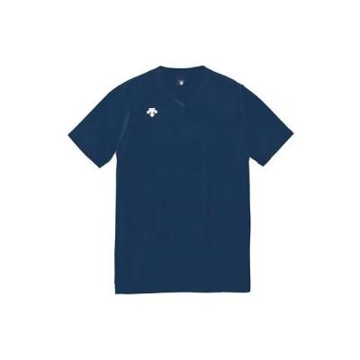 メール便OK DESCENTE(デサント) DSS-4321 半袖 ゲームシャツ プラクティスシャツ バレーボール NVY