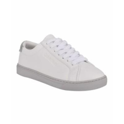 カルバンクライン レディース スニーカー シューズ Women's Gules Lace-Up Sneakers White Gray
