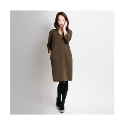 MARTHA(マーサ)3/4スリーブVネックワンピース (ワンピース)Dress