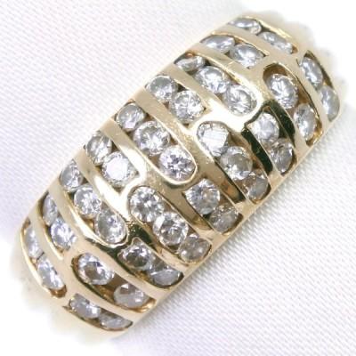 リング・指輪 K18イエローゴールド×ダイヤモンド 12.5号 1.01 レディース 中古  A-ランク