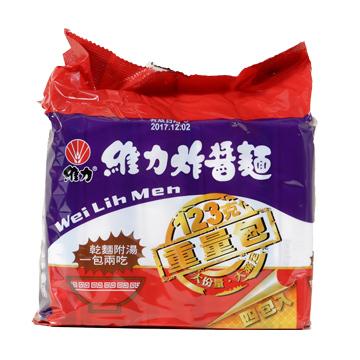 維力 炸醬麵重量包123g(4包x6袋/箱)