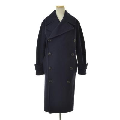 beautiful people / ビューティフルピープル 18AW diagonal melton conv ex shaped pea coat ウールコート