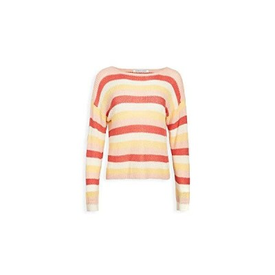 cupcakes and cashmere Women's Lex Multi Stripe Boatneck Sweater, Ivory, Ext