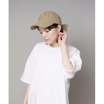 LB/S / 【CONVERSE/コンバース】リボンツイルキャップ ローキャップ バックリボン ワンポイントブランドロゴ刺繍 WOMEN 帽子 > キャップ