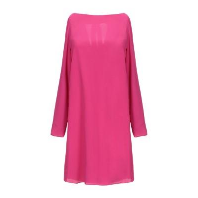 1-ONE ミニワンピース&ドレス フューシャ 40 アセテート 85% / シルク 15% ミニワンピース&ドレス