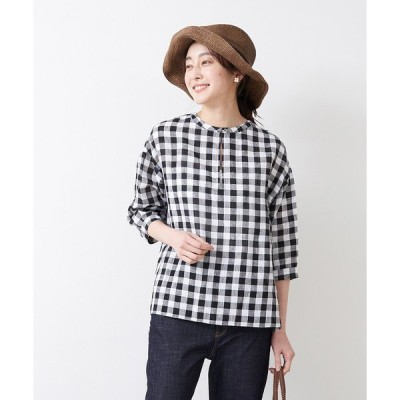 tシャツ Tシャツ 【STAMP AND DIARY】  スキッパーブラウス