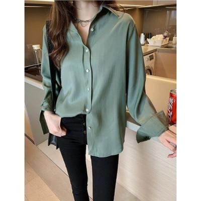 大きいサイズM-4XL ファッション 人気ワイシャツ ホワイト アンズ グリーン3色展開