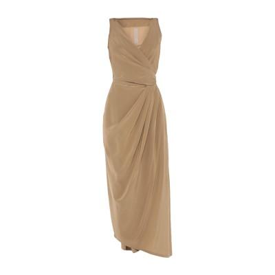リック オウエンス RICK OWENS 7分丈ワンピース・ドレス カーキ 40 シルク 100% 7分丈ワンピース・ドレス
