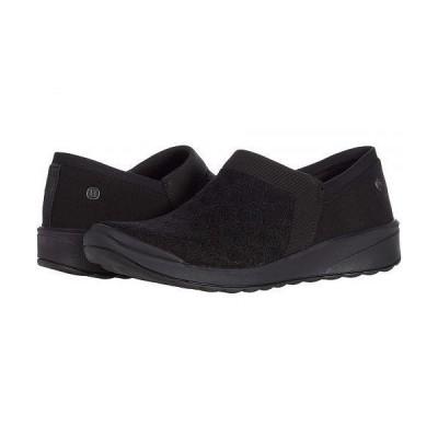 Bzees レディース 女性用 シューズ 靴 スニーカー 運動靴 Gia - Black Pointelle Knit