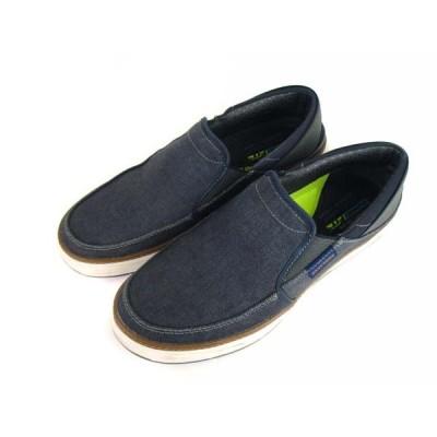 【中古】スケッチャーズ SKECHERS カジュアルシューズ スリッポン スニーカー 靴 66062 ネイビー系 28.5cm メンズ 【ベクトル 古着】
