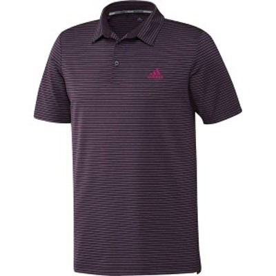 アディダス メンズ シャツ トップス adidas Men's Ultimate365 Space Dye Stripe Golf Polo Noble Purple/Noble Purple