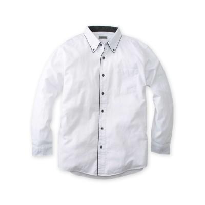 Louis Chavlon(ルイシャブロン) 2枚衿オックス長袖シャツ 大きいサイズメンズ カジュアルシャツ, Shirts,
