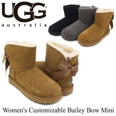 アグ UGG ウィメンズ カスタマイザブル ベイリー ボウ ミニ Women's Customizable Bailey Bow Mini ブーツ ショート[CC]