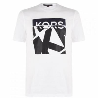 マイケル コース MICHAEL Michael Kors メンズ Tシャツ トップス Block T Shirt White