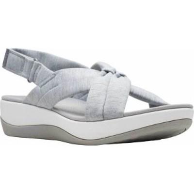 クラークス レディース サンダル シューズ Arla Belle Slingback Sandal Grey Heathered Textile