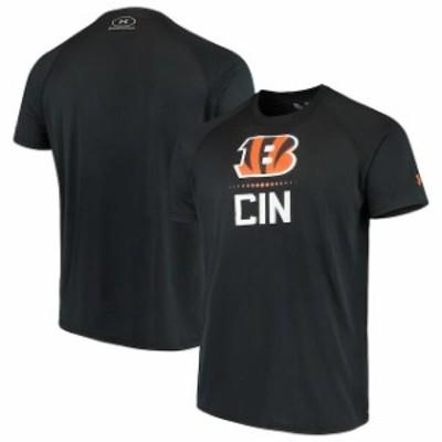 Under Armour アンダー アーマー スポーツ用品  Under Armour Cincinnati Bengals Black Authentic Combine Lockup Tech T