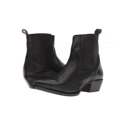 Frye フライ レディース 女性用 シューズ 靴 ブーツ チェルシーブーツ アンクル Sacha Chelsea - Black Polished Soft Full Grain