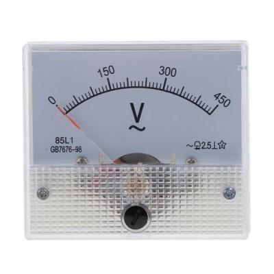 正確な85L1 AC電圧計のアナログのポインターの電圧計の0-450V