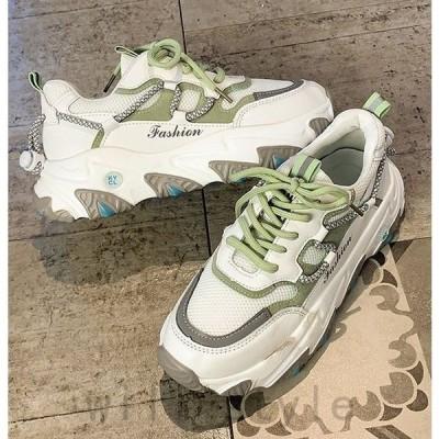 ダッドスニーカー韓国オルチャンストリート原宿系衣装レトロ配色靴シューズ