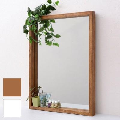 ミラー 壁掛けミラー 鏡 壁掛け おしゃれ 木製 幅45 ボックス 北欧 軽量 アンティーク 長方形 シンプル ANTE 着後レビューでクーポン
