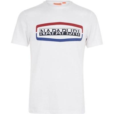 ナパピリ Napapijri メンズ Tシャツ トップス Sogy Short Sleeve T Shirt Bright White