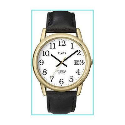 Timex #T2H291 メンズ Indiglo イージーリーダー ホワイトダイヤル レザーバンド アナログ腕時計【並行輸入品