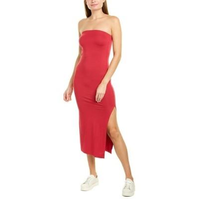 エンザ コスタ ワンピース トップス レディース Enza Costa Strapless Midi Dress fuchsia red