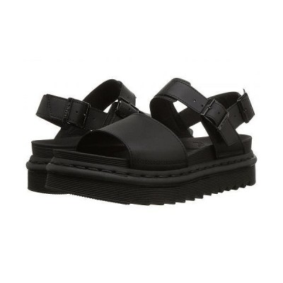 Dr. Martens ドクターマーチン レディース 女性用 シューズ 靴 サンダル Voss - Black Hydro Leather