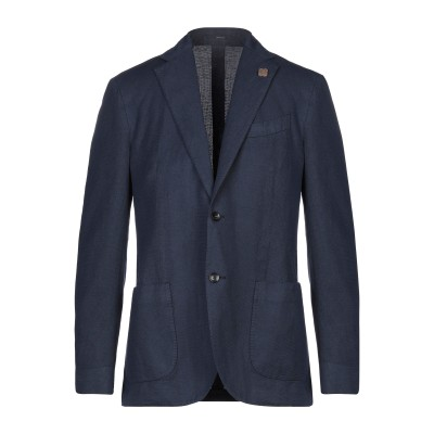 ラルディーニ LARDINI テーラードジャケット ダークブルー 56 コットン 58% / リネン 42% テーラードジャケット